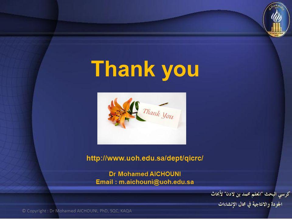 Email : m.aichouni@uoh.edu.sa