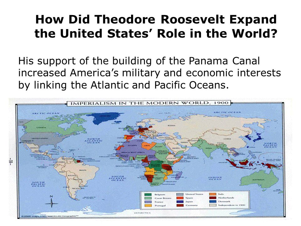 How Did Theodore Roosevelt Expand the United States' Role in the World