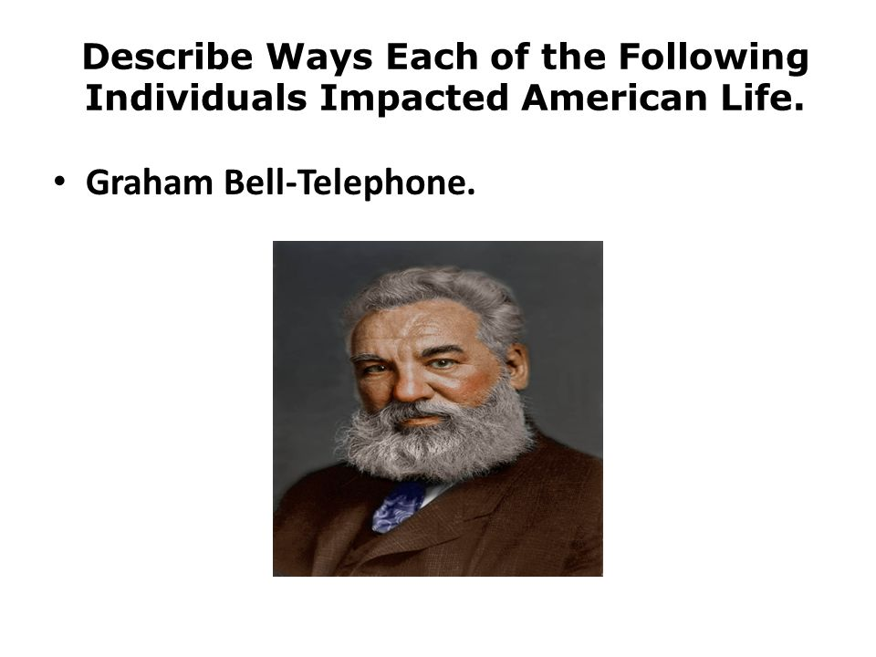 Graham Bell-Telephone.