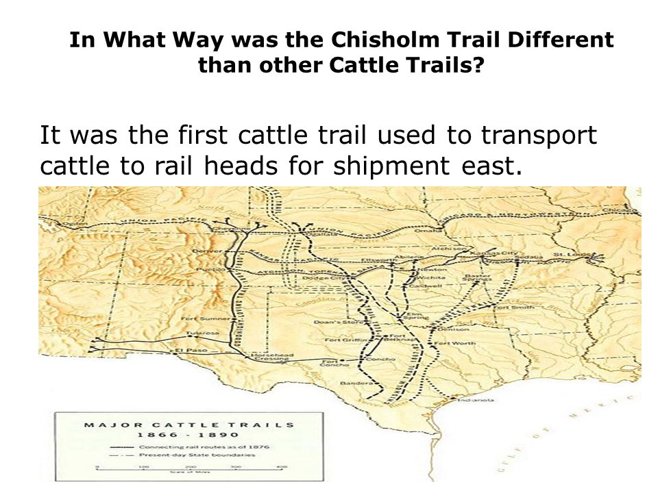 In What Way was the Chisholm Trail Different than other Cattle Trails