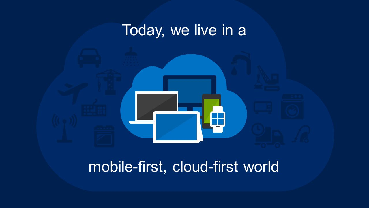 mobile-first, cloud-first world