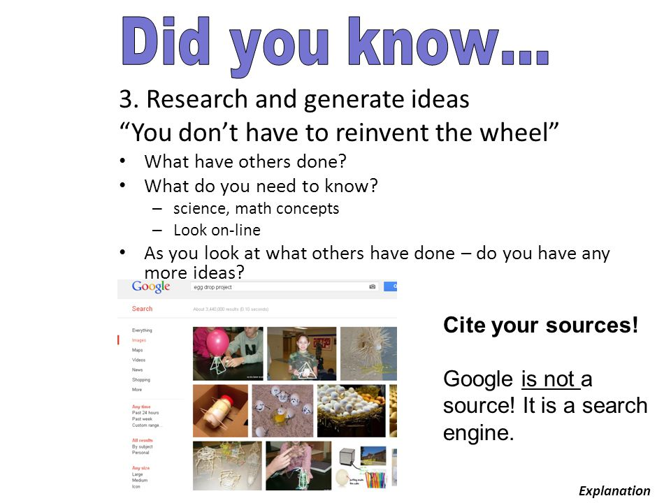 3. Research and generate ideas You don't have to reinvent the wheel