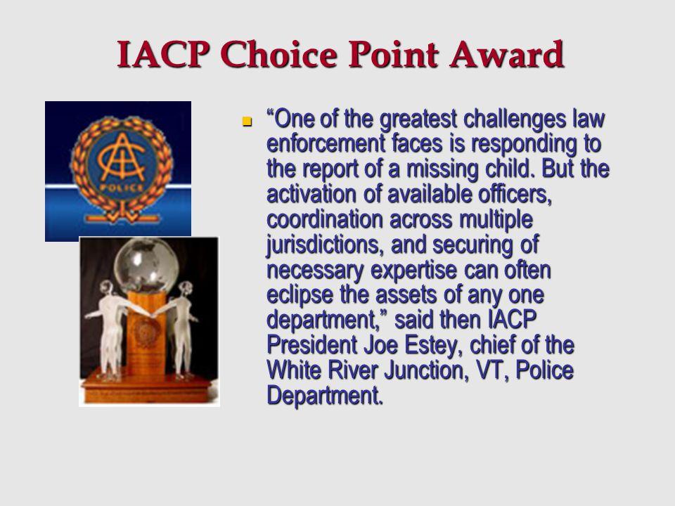 IACP Choice Point Award