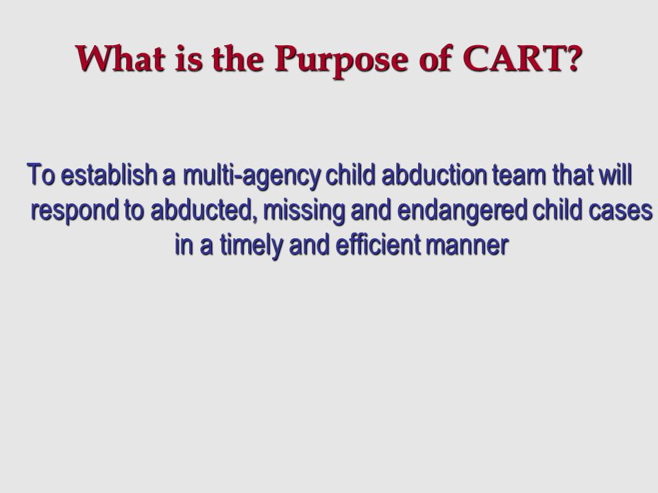 What is the Purpose of CART