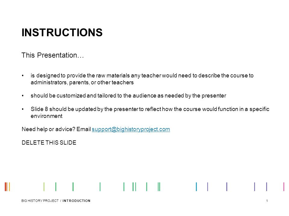 INSTRUCTIONS This Presentation…