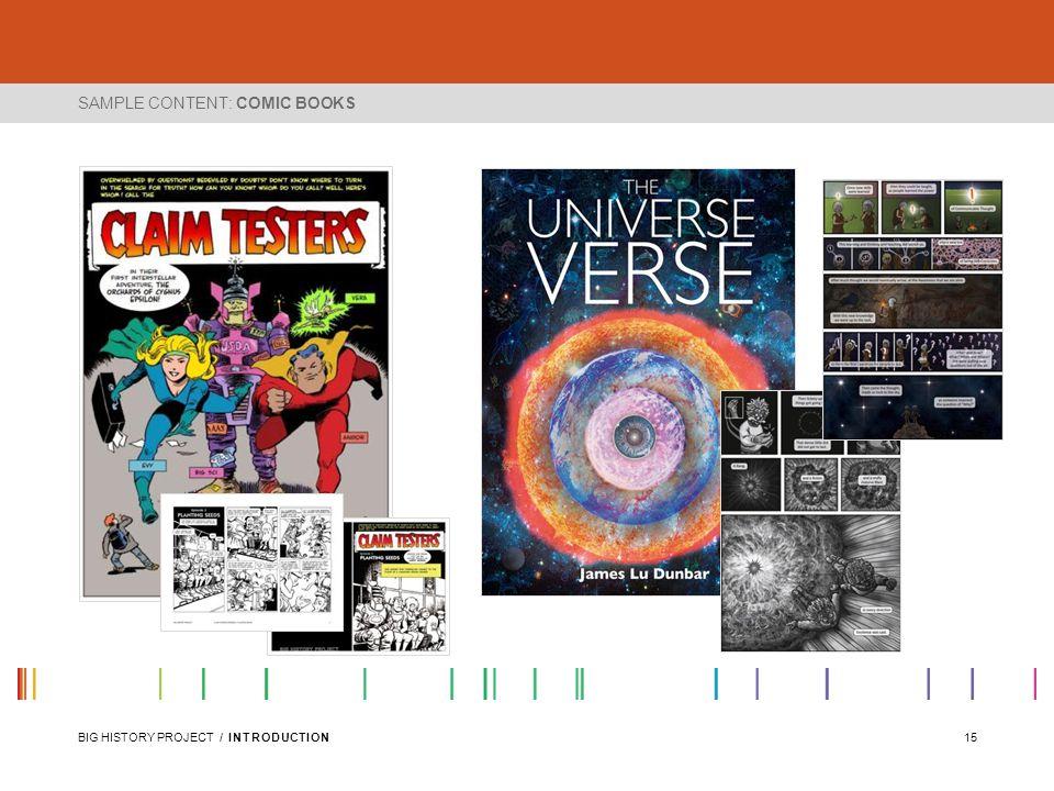 SAMPLE CONTENT: COMIC BOOKS