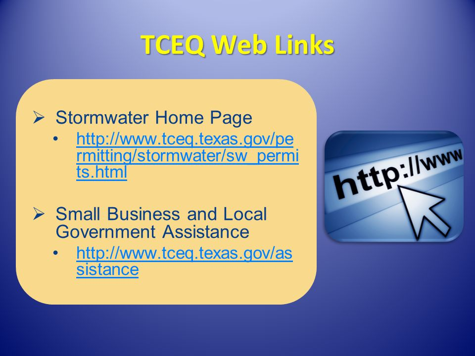 TCEQ Web Links Stormwater Home Page