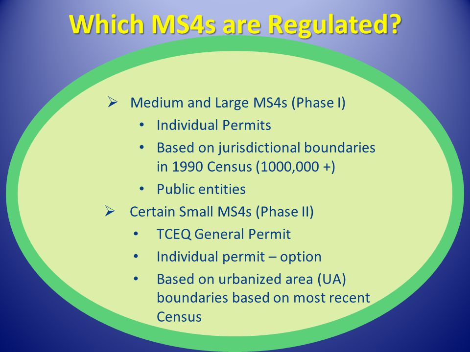 Which MS4s are Regulated