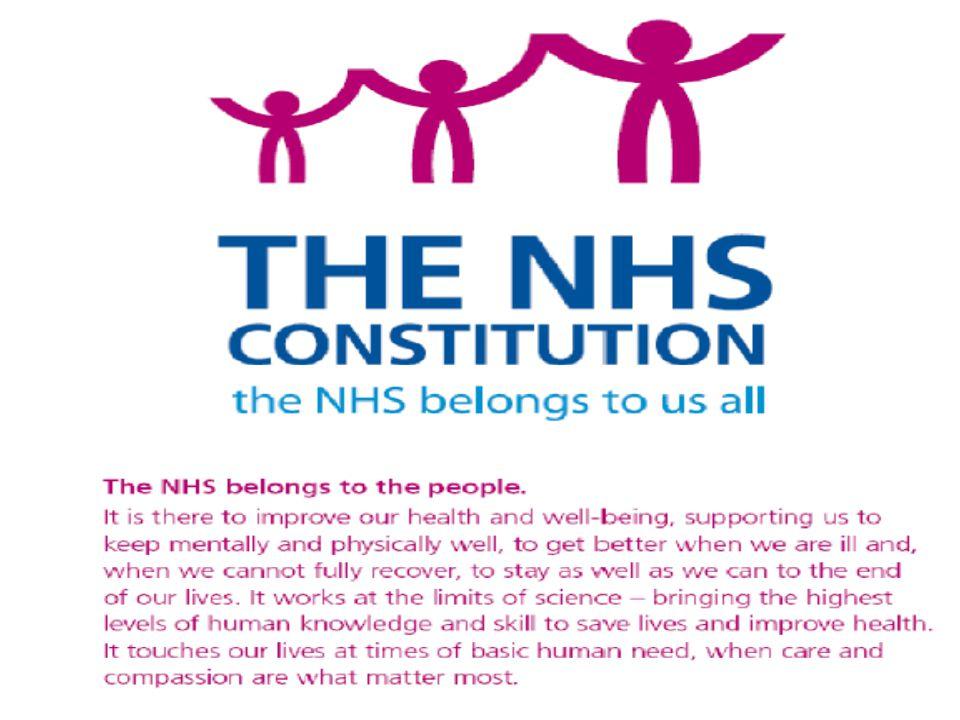 W need to connect with purpose; NHS Constitution gives us the platform