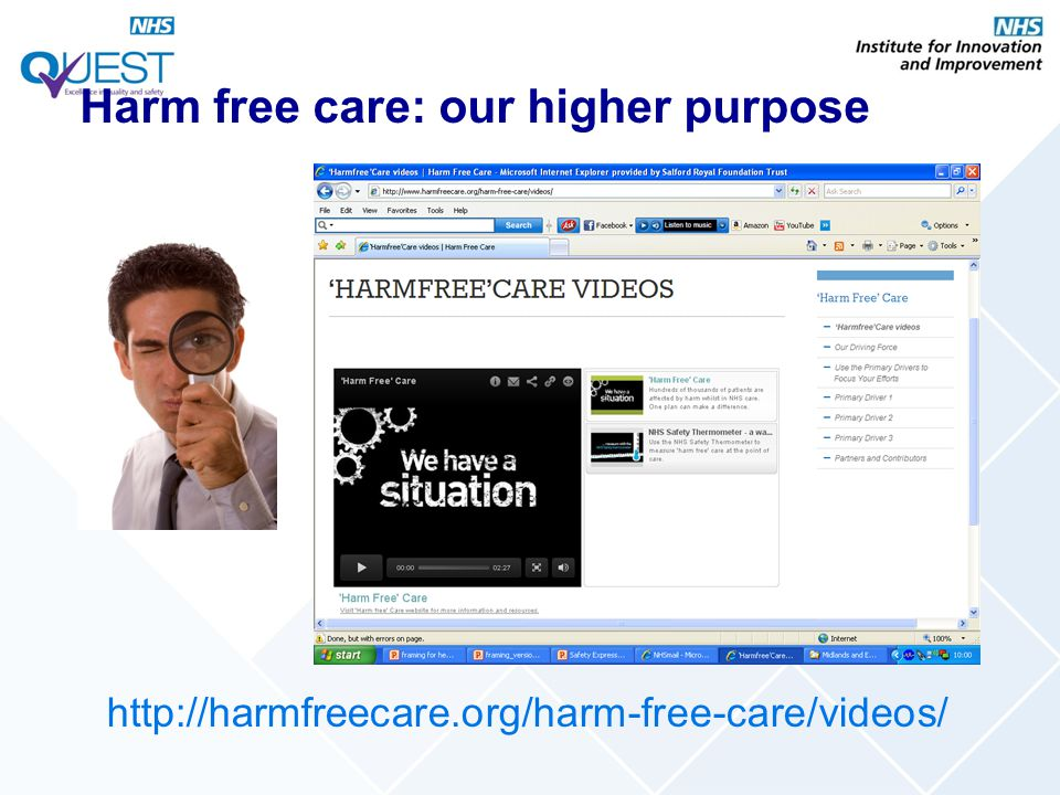 Harm free care: our higher purpose
