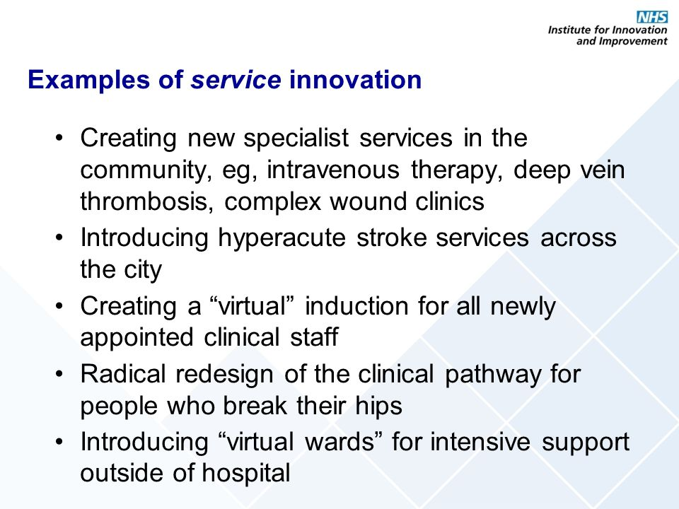 Examples of service innovation