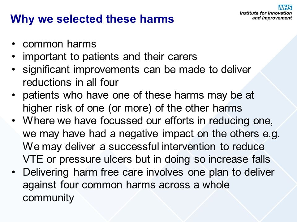 Why we selected these harms