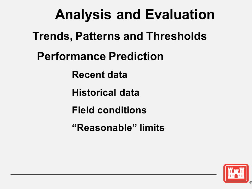 Analysis and Evaluation Trends, Patterns and Thresholds