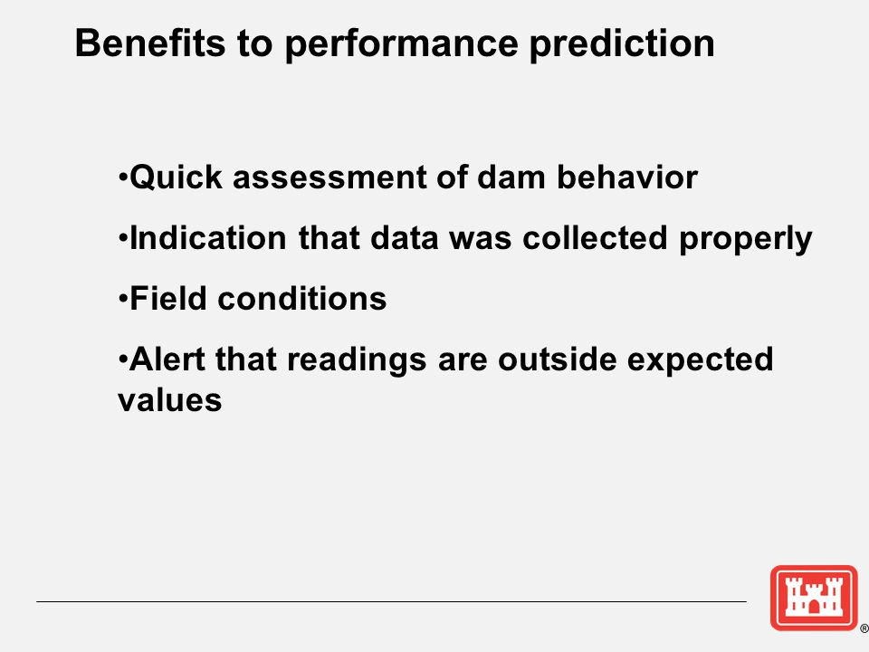 Benefits to performance prediction