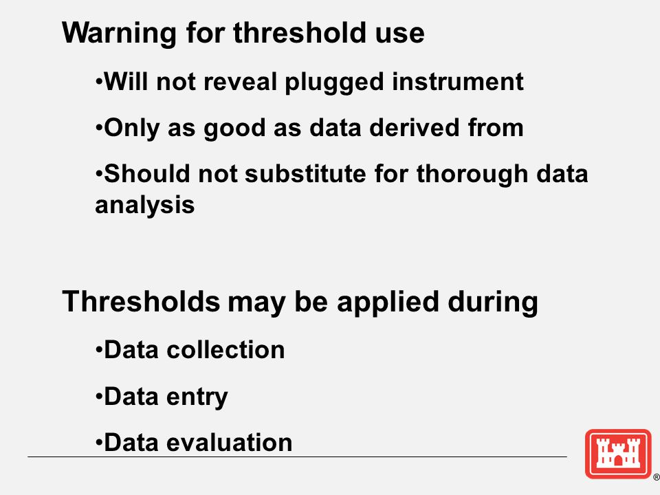 Warning for threshold use