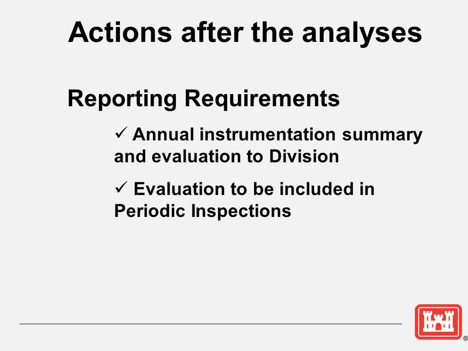 Actions after the analyses