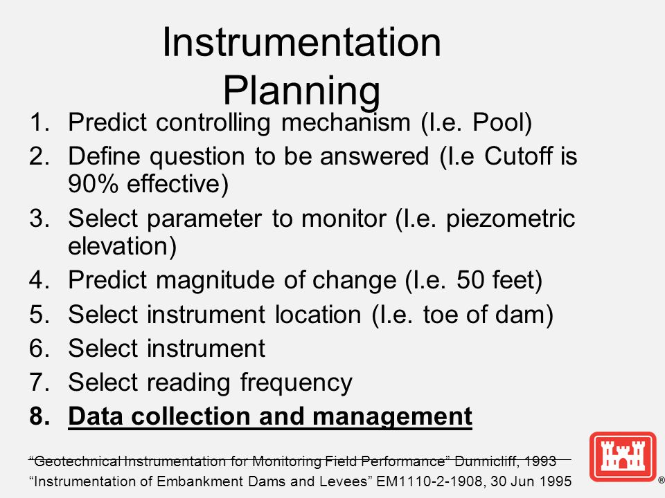 Instrumentation Planning