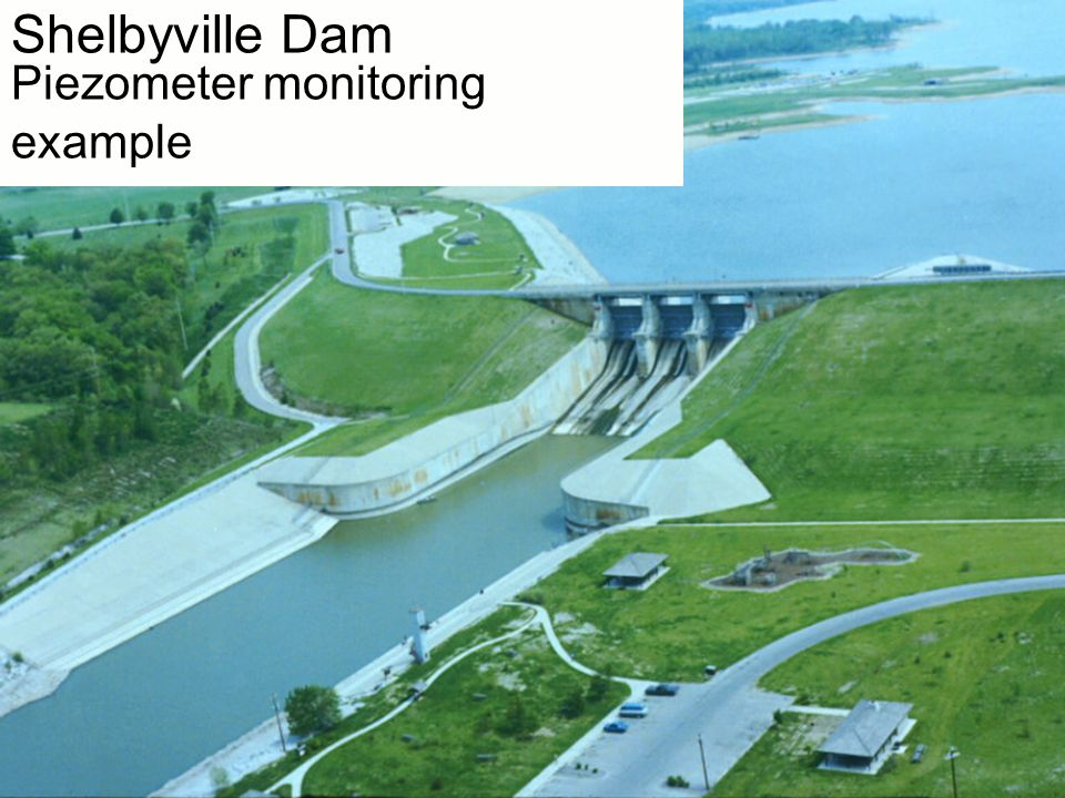 Shelbyville Dam Piezometer monitoring example