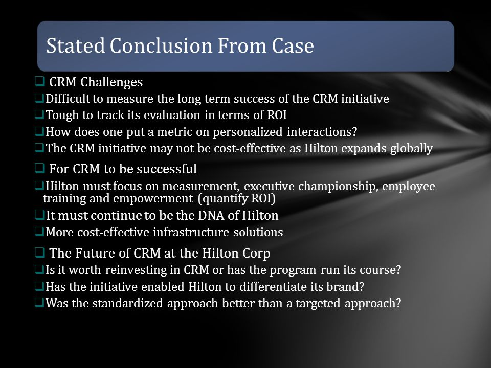 Stated Conclusion From Case
