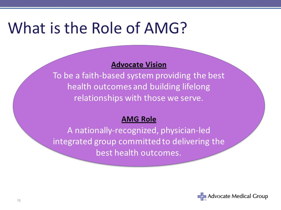 What is the Role of AMG Advocate Vision.