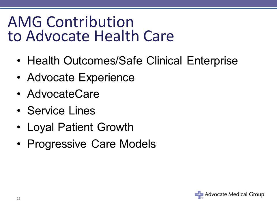 AMG Contribution to Advocate Health Care