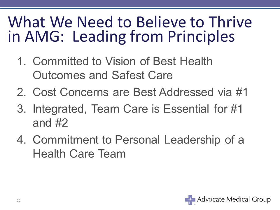 What We Need to Believe to Thrive in AMG: Leading from Principles