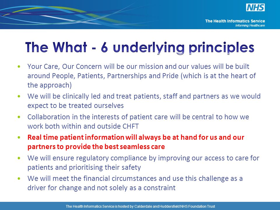 The What - 6 underlying principles