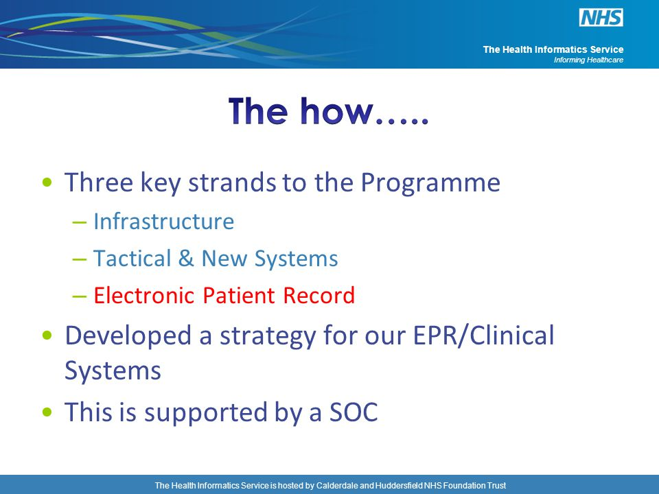 The how….. Three key strands to the Programme