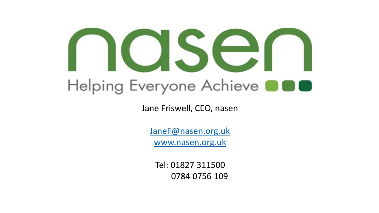 Jane Friswell, CEO, nasen