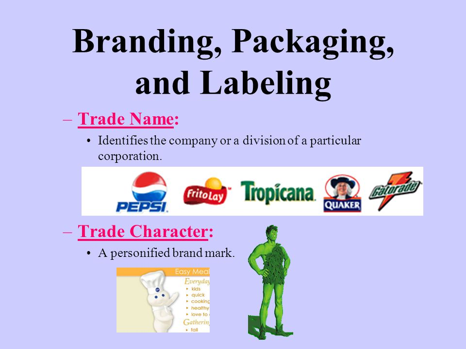 Branding, Packaging, and Labeling