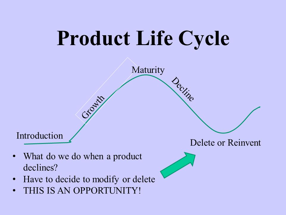 Product Life Cycle Maturity Decline Growth Introduction