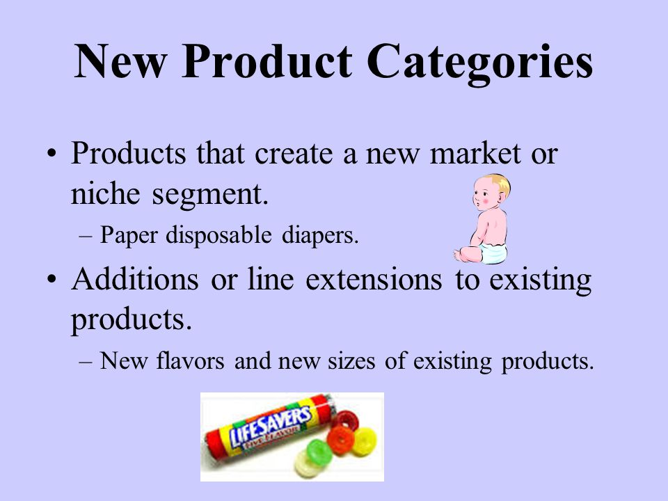New Product Categories