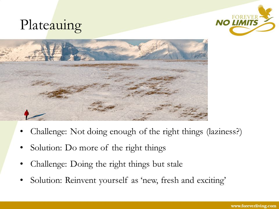 Plateauing Challenge: Not doing enough of the right things (laziness )