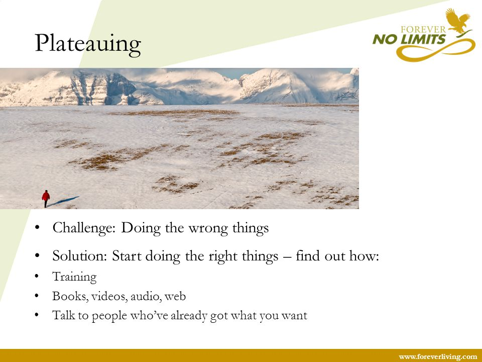 Plateauing Challenge: Doing the wrong things