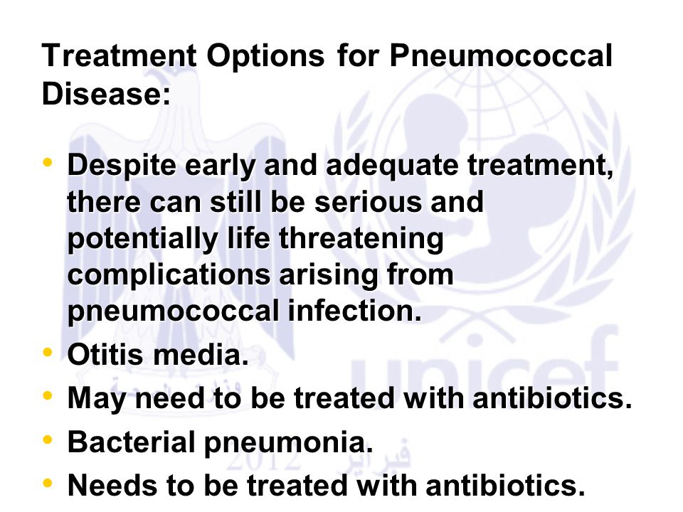 Treatment Options for Pneumococcal Disease: