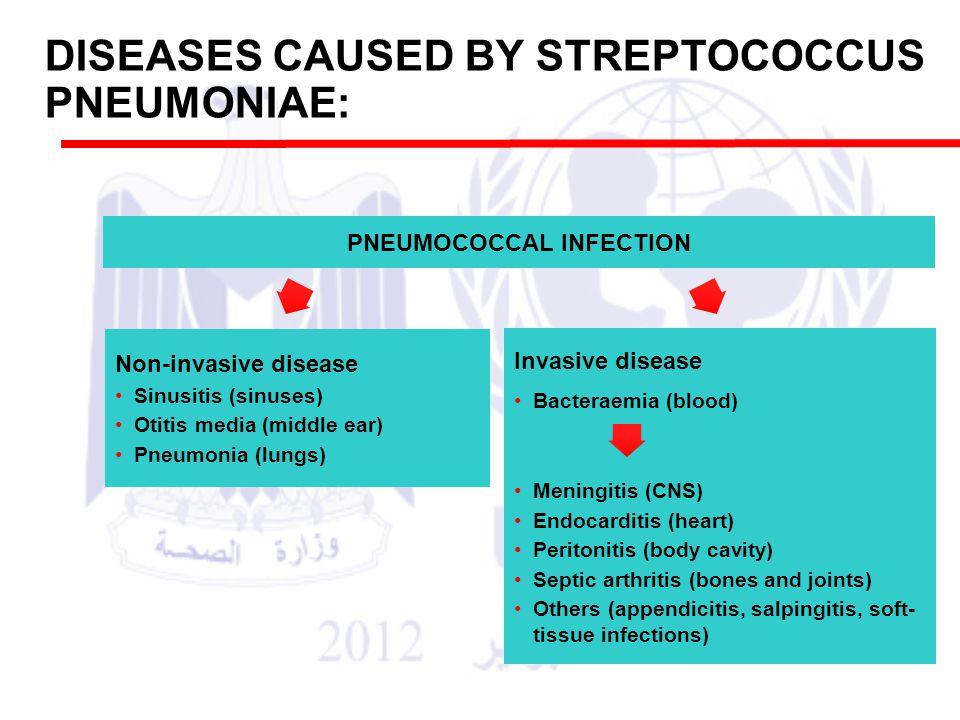DISEASES CAUSED BY STREPTOCOCCUS PNEUMONIAE: