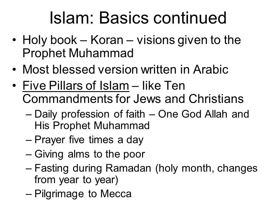 Islam: Basics continued