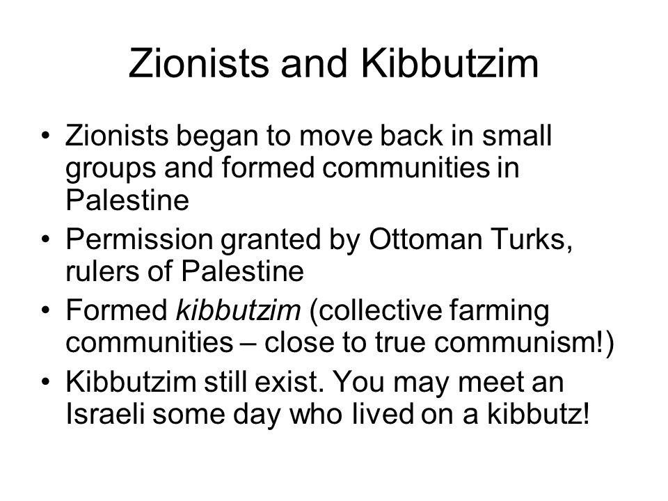 Zionists and Kibbutzim