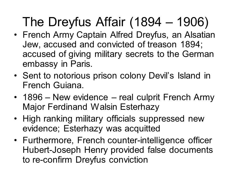 The Dreyfus Affair (1894 – 1906)