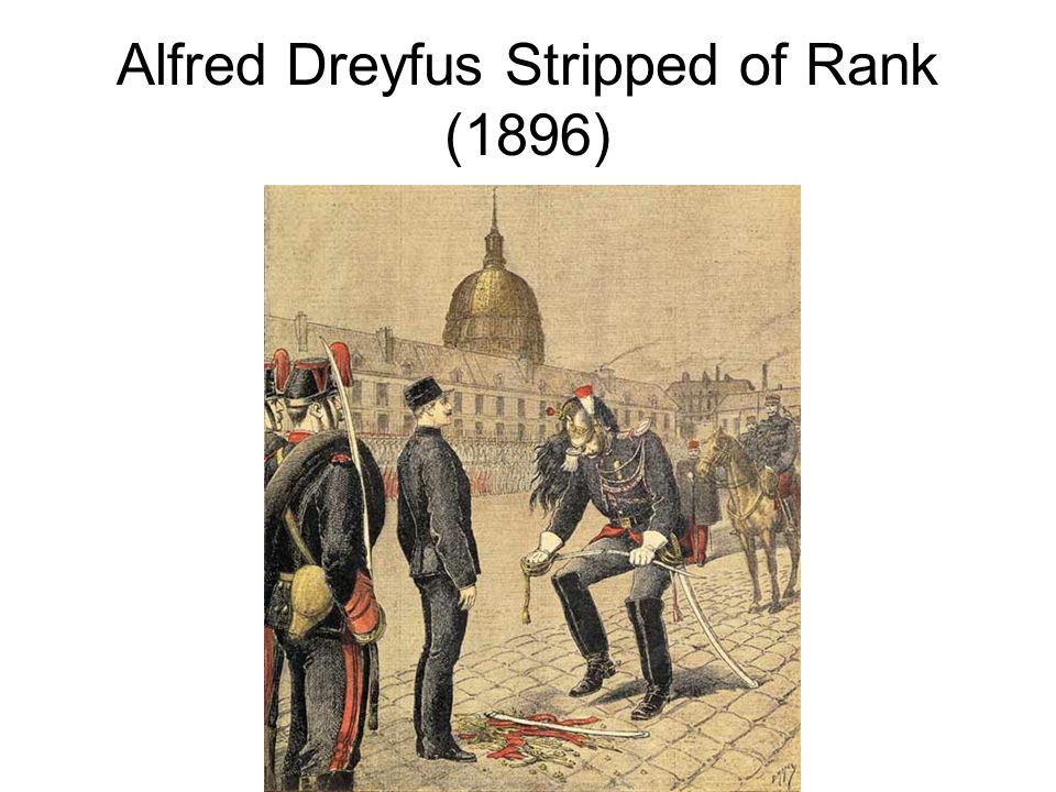 Alfred Dreyfus Stripped of Rank (1896)