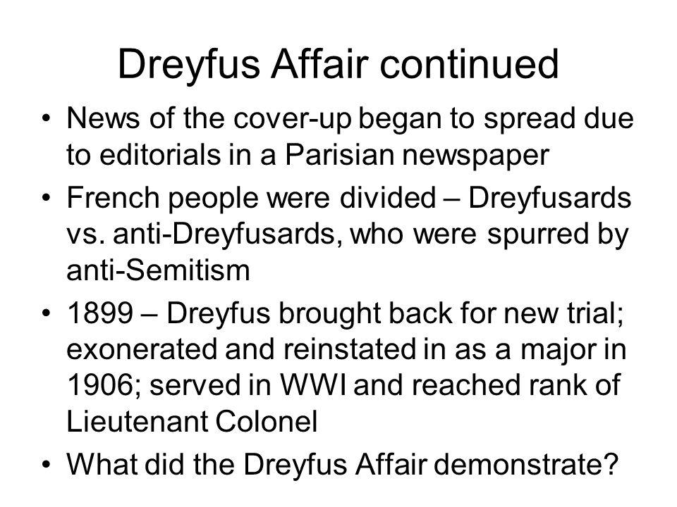 Dreyfus Affair continued
