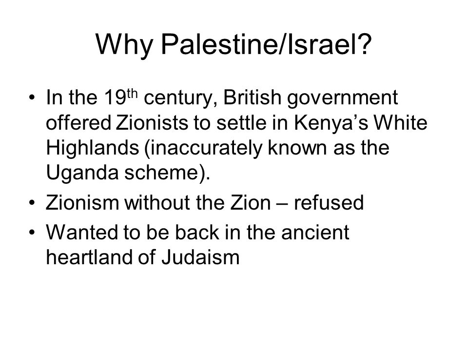 Why Palestine/Israel