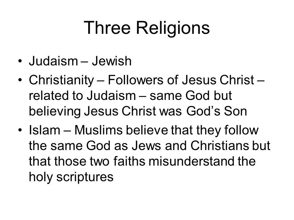 Three Religions Judaism – Jewish