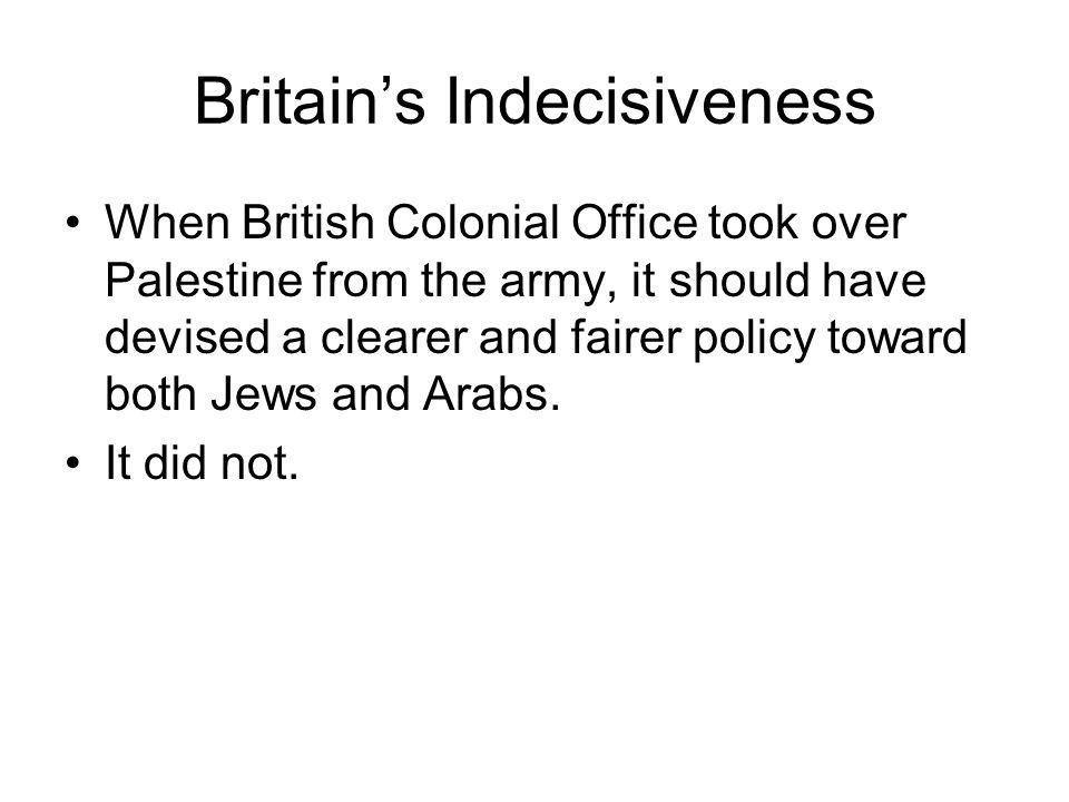 Britain's Indecisiveness