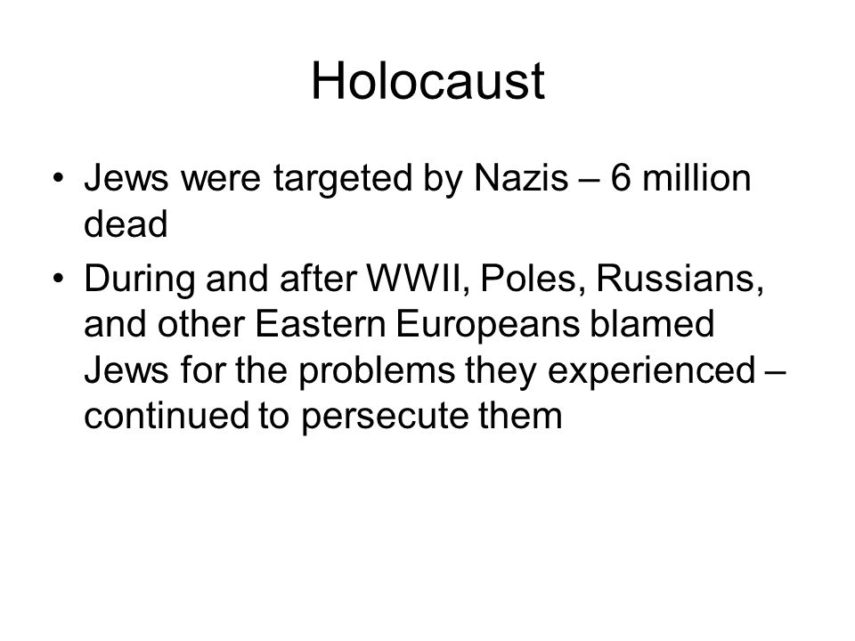 Holocaust Jews were targeted by Nazis – 6 million dead