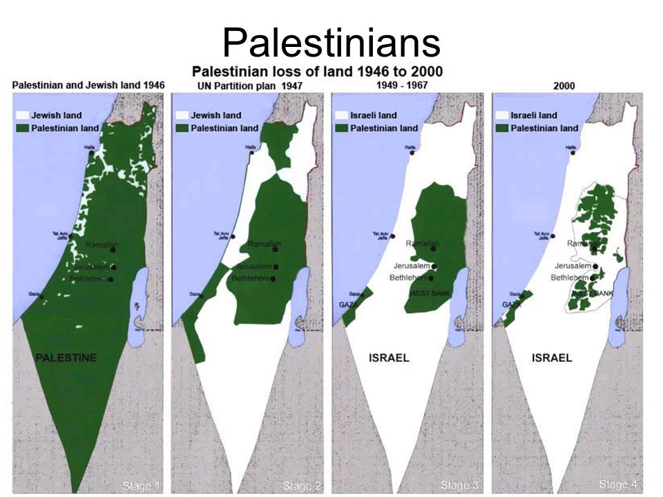 Palestinians They lived and spread in the area after the Jews left