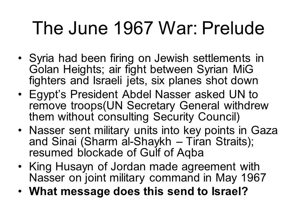The June 1967 War: Prelude