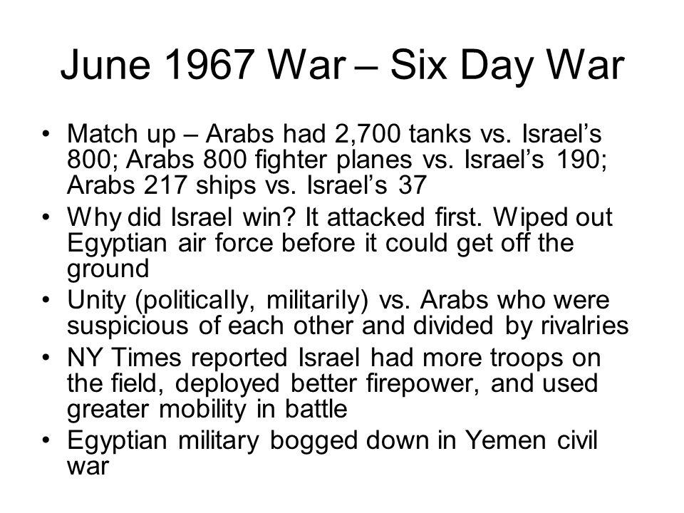 June 1967 War – Six Day War