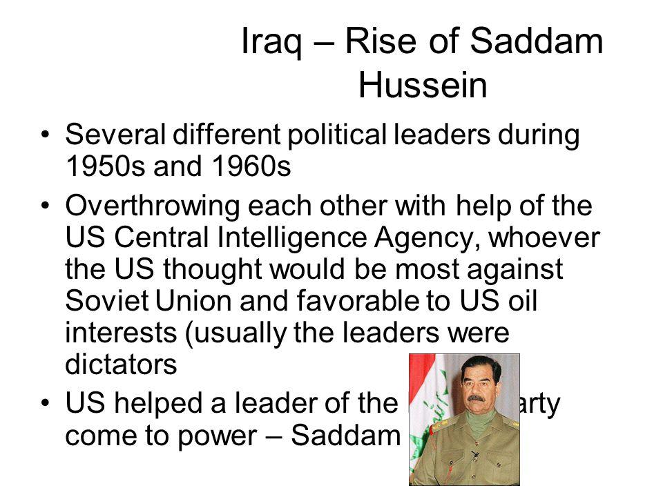 Iraq – Rise of Saddam Hussein