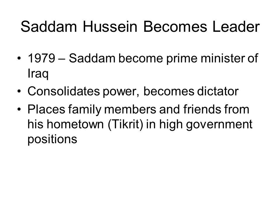 Saddam Hussein Becomes Leader